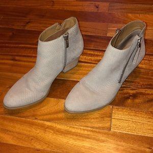Grey skinned booties
